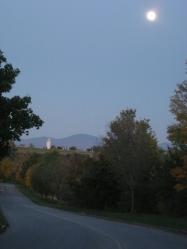 Full moonrise in Vermont